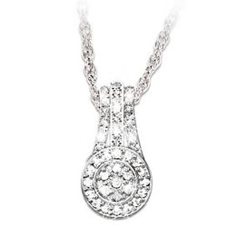 Message of Love Diamond Pendant Necklace