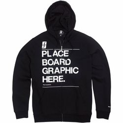 Tertiary Fullzip Hoodie Black to the Future