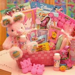 Little Cottontails Easter Activity Easter Basket in Pink
