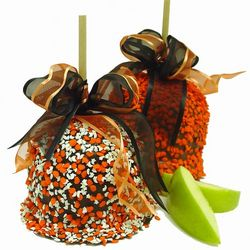 Halloween Caramel Chocolate Apple