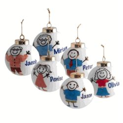 Personalized Christmas Ornament for Kids
