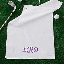 Women's Personalized Golf Towel with Raised Monogram