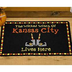 Personalized Wicked Witch Of Large Doormat