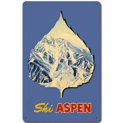 Ski Aspen Metal Sign