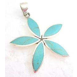 Floral Design Sterling Silver Pendant