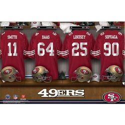 Personalized San Francisco 49ers 24x36 Locker Room Canvas