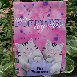 Personalized Purrfect Together Garden Flag