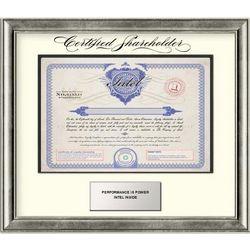 Intel Framed Stock Certificate