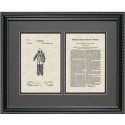 Diving Suit Patent Art Wall Hanging