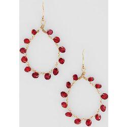 Gold Fill Garnet Wrapped Earrings