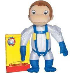 Curious George Space Monkey Plush Toy and DVD Set