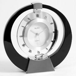 Singapore Ebony Wood Quartz Clock