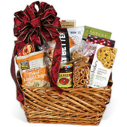 Same-Day Delivery Gourmet Snacks in Gift Basket
