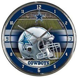 "Dallas Cowboys Round 12"" Chrome Wall Clock"