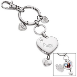 Inspirational Heart Locket Keychain