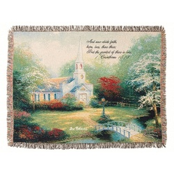 Thomas Kinkade Chapel Throw