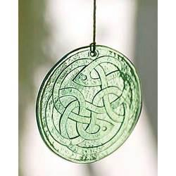 Recycled Glass Celtic Knot Suncatcher