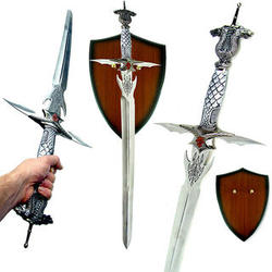 Celtic Dragon Longsword with Plaque
