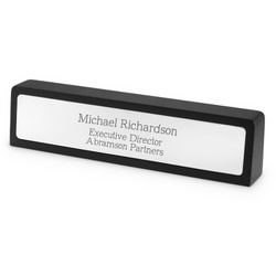 Black Matte Name Bar