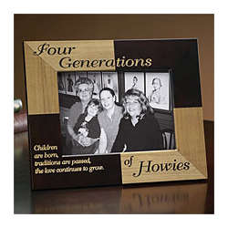 Family Generations Wood Photo Frame