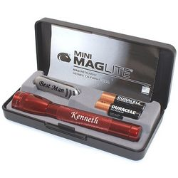 Personalized Mini Maglite AA and Knife Gift Set