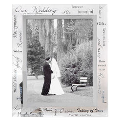 Wedding Expression Glass Picture Frame