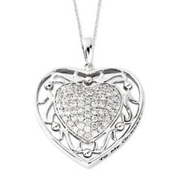 To My Granddaughter Heart Necklace