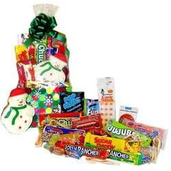Colorful Snowflake Retro Candy Gift Basket