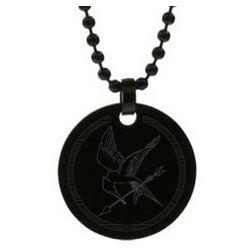 Hunger Games Inspired Black Tag Mockingjay Pendant