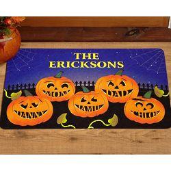 Personalized Pumpkin Family 24x36 Doormat
