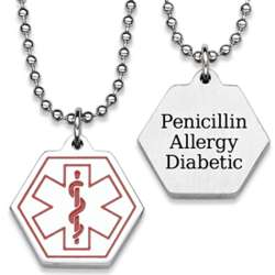 Personalized Stainless Steel Medical Alert Necklace