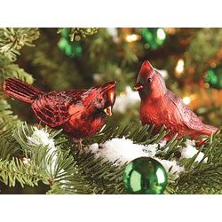 Old World Glass Cardinal Ornaments Set