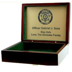 Personalized Law Enforcement Engraved Memory Box