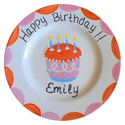 Personalized Girl Birthday Plate