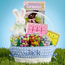 Personalized All-In-One Blue Easter Basket