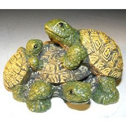 Miniature Ceramic Turtles Figurine