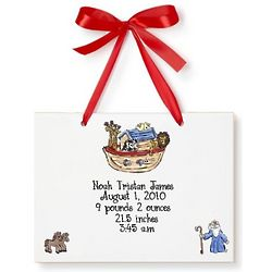 Personalized Noah's Ark Birth Announcement