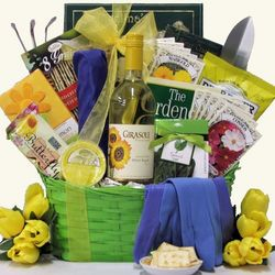 Summer Garden Gourmet Wine Gift Basket
