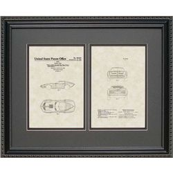 Corvette Patent Art Wall Hanging