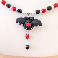 Barty Bat Halloween Necklace for Kids