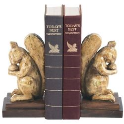 Acorn Lovers Squirrel Bookends