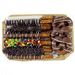 Gourmet Chocolate Covered Pretzel Tray