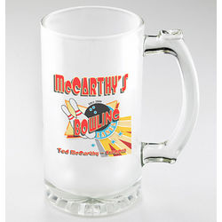 Bowling Personalized Frosted Sports Mugs
