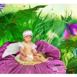 Violet Fairy Custom Photo Art Print