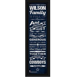"Personalized Dallas Cowboys 24"" Family Print"