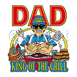 """Dad """"King Of The Grill"""" T-Shirt"""