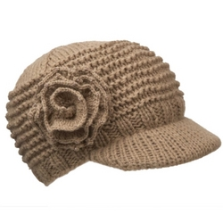 Knit Flower Cap