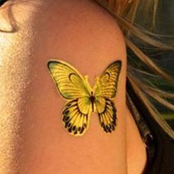 24 Karat Gold Butterfly Body Jewelry