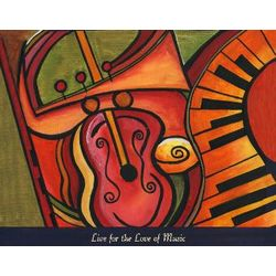 The Love of Music III Personalized Print