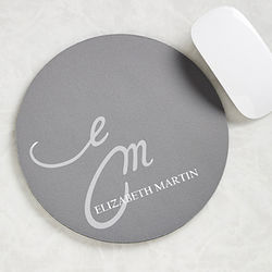 My Monogram Personalized Mouse Pad for Her